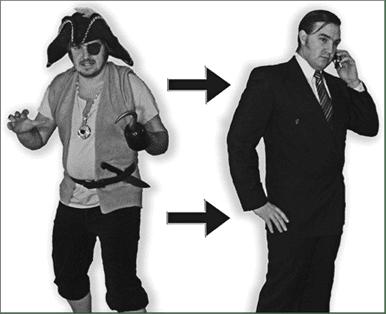 Evolución Pirata -> Humano