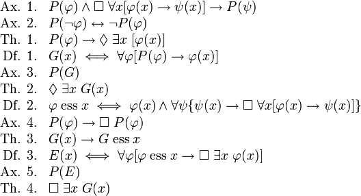 Prueba ontológica de Gödel